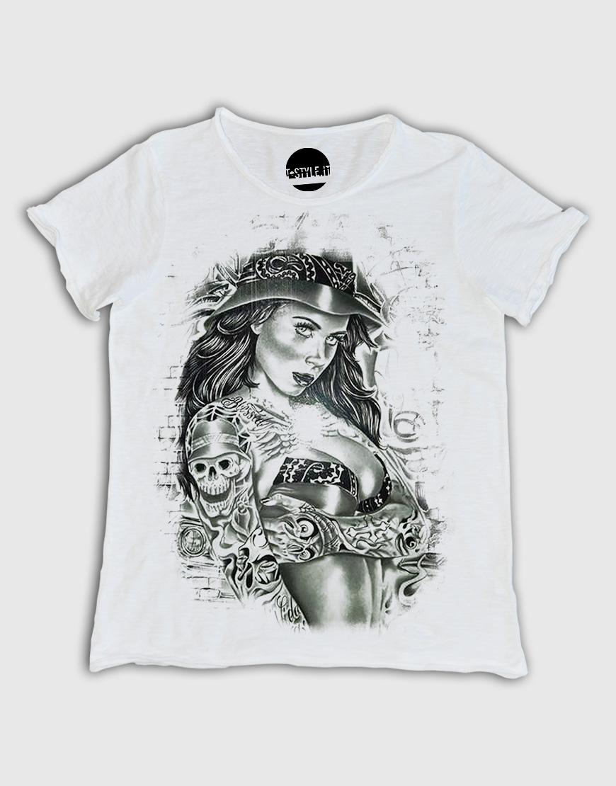 Top T-shirt Uomo con grafica Tattoo – T-style FS85