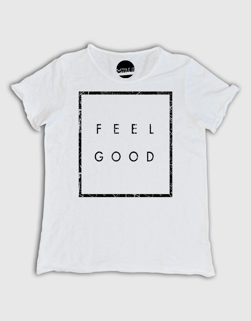 Favoloso T-shirt Uomo con grafica Feel Good – T-style XY92